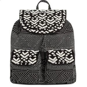 MOSSIMO SUPPLY CO Beaded Black and White Backpack